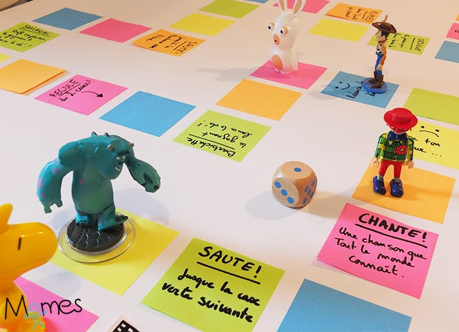 Un jeu de l 39 oie g ant avec des post it - Jeu de creation de maison ...