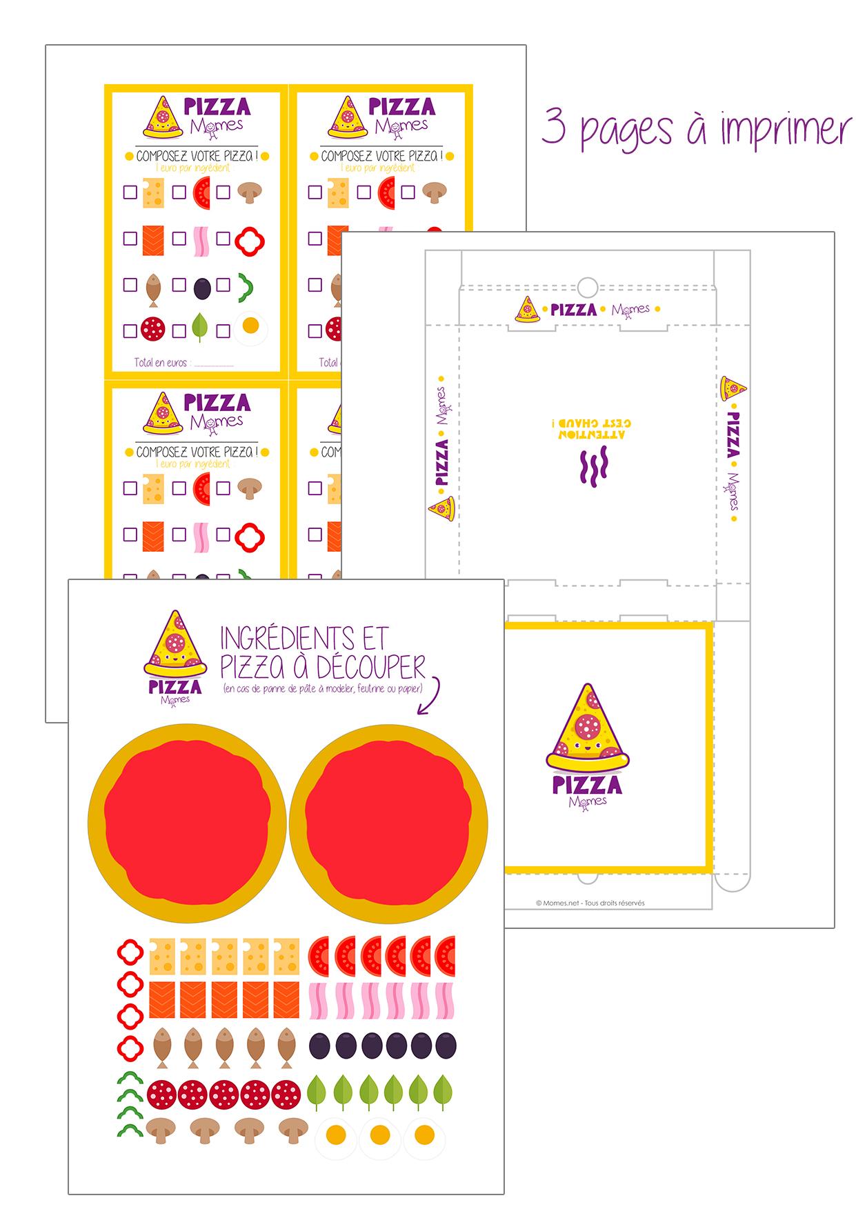 Top Jeu de mini-pizza à imprimer - Momes.net HM29