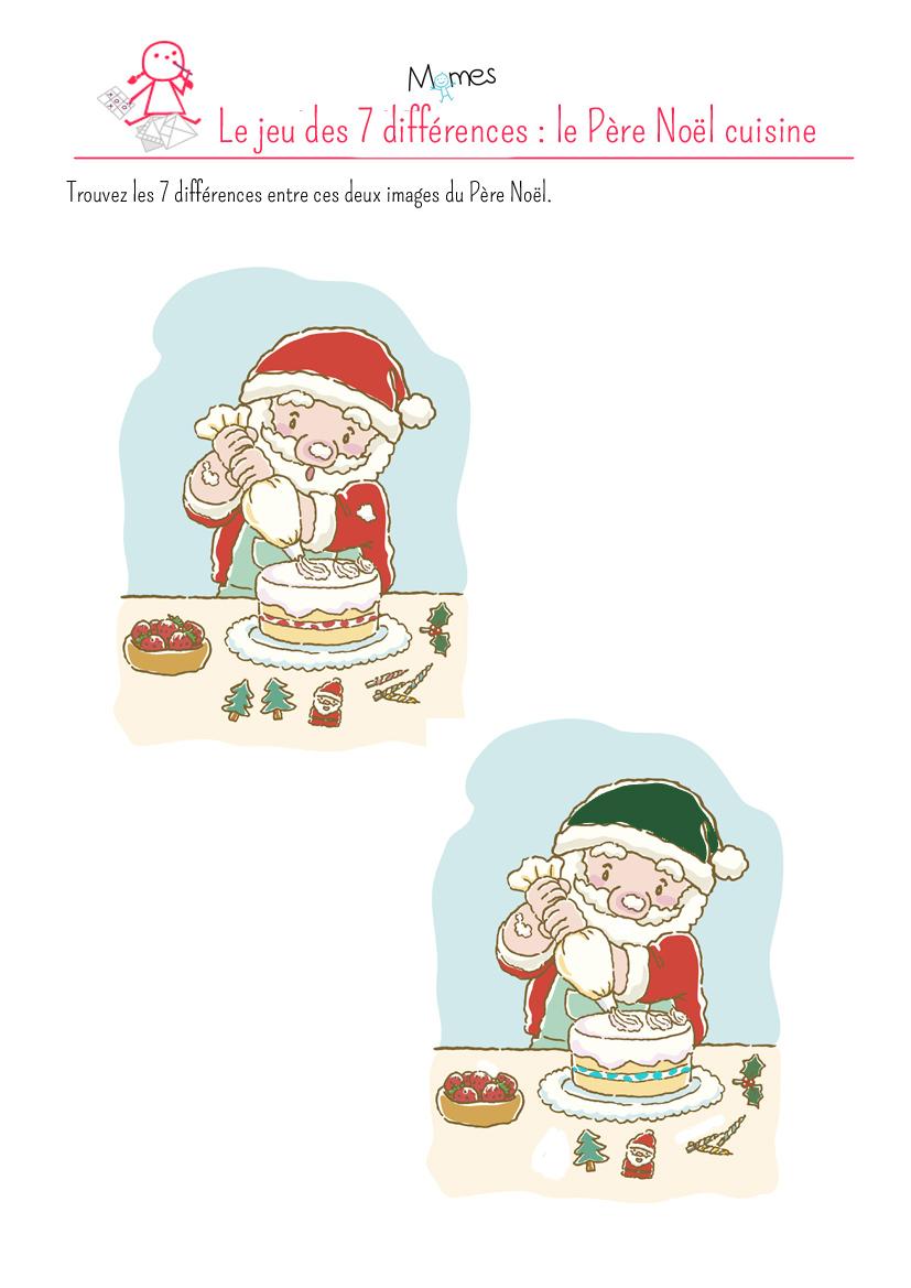 Jeu Des Différences Le Père Noël Momesnet - Jeux de cuisine de noel