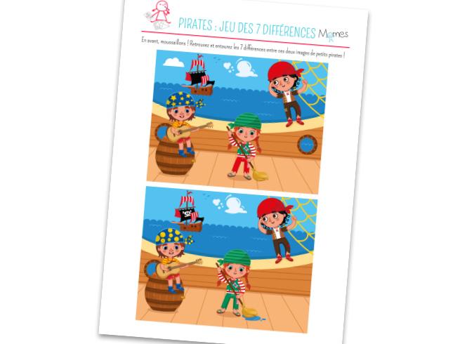 Jeu des 7 erreurs : les Pirates - Momes.net