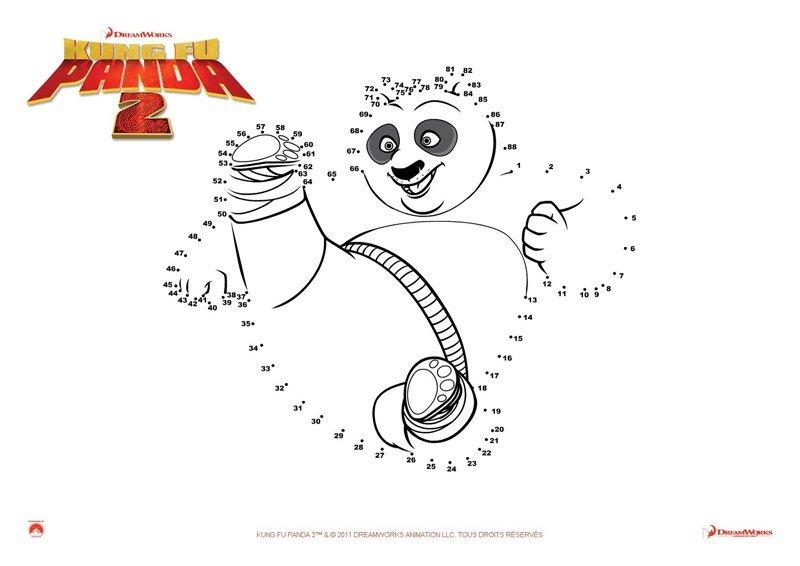 Jeu Kung Fu Panda 2: relier les points de Po