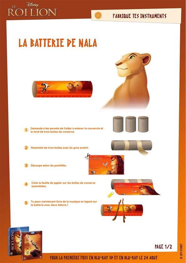 Jeu Le Roi Lion: la batterie de Nala (1/2) - Momes.net