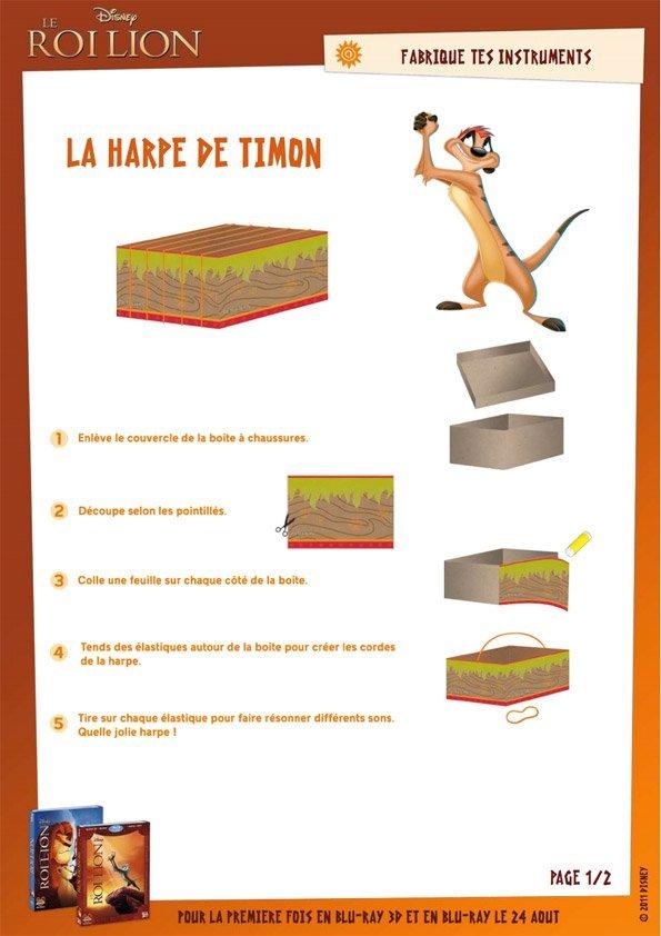 Jeu Le Roi Lion : la harpe de Timon (1/2)