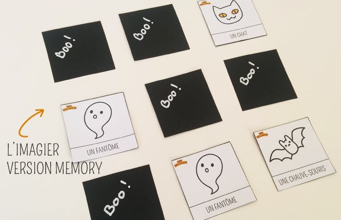 jeu de memory halloween