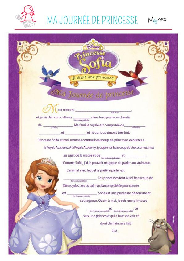 Jeu Princesse Sofia: ma journée de princesse