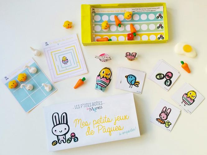 boite jeux de paques momes