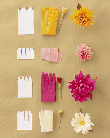 Jolies Fleurs En Papier Crépon Momesnet