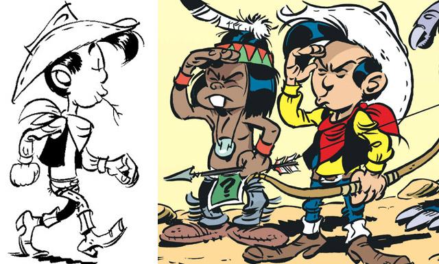 bande dessinée Kid Lucky en dessin animé