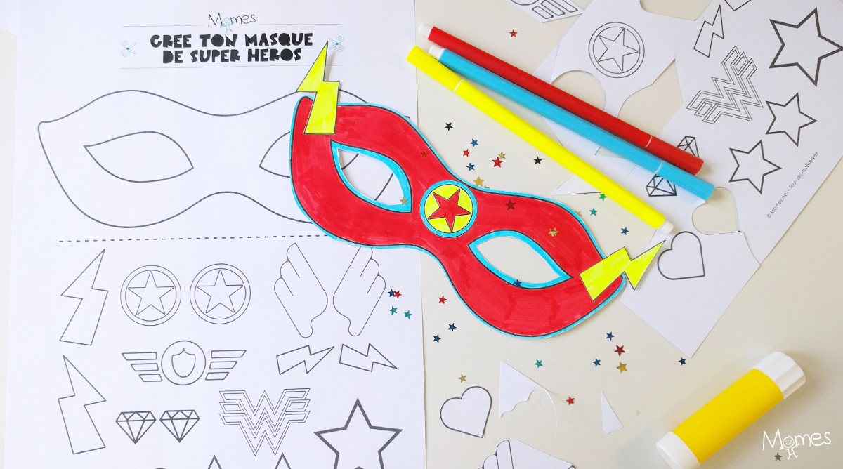 Kit masque de super h ros - Masque super heros imprimer ...