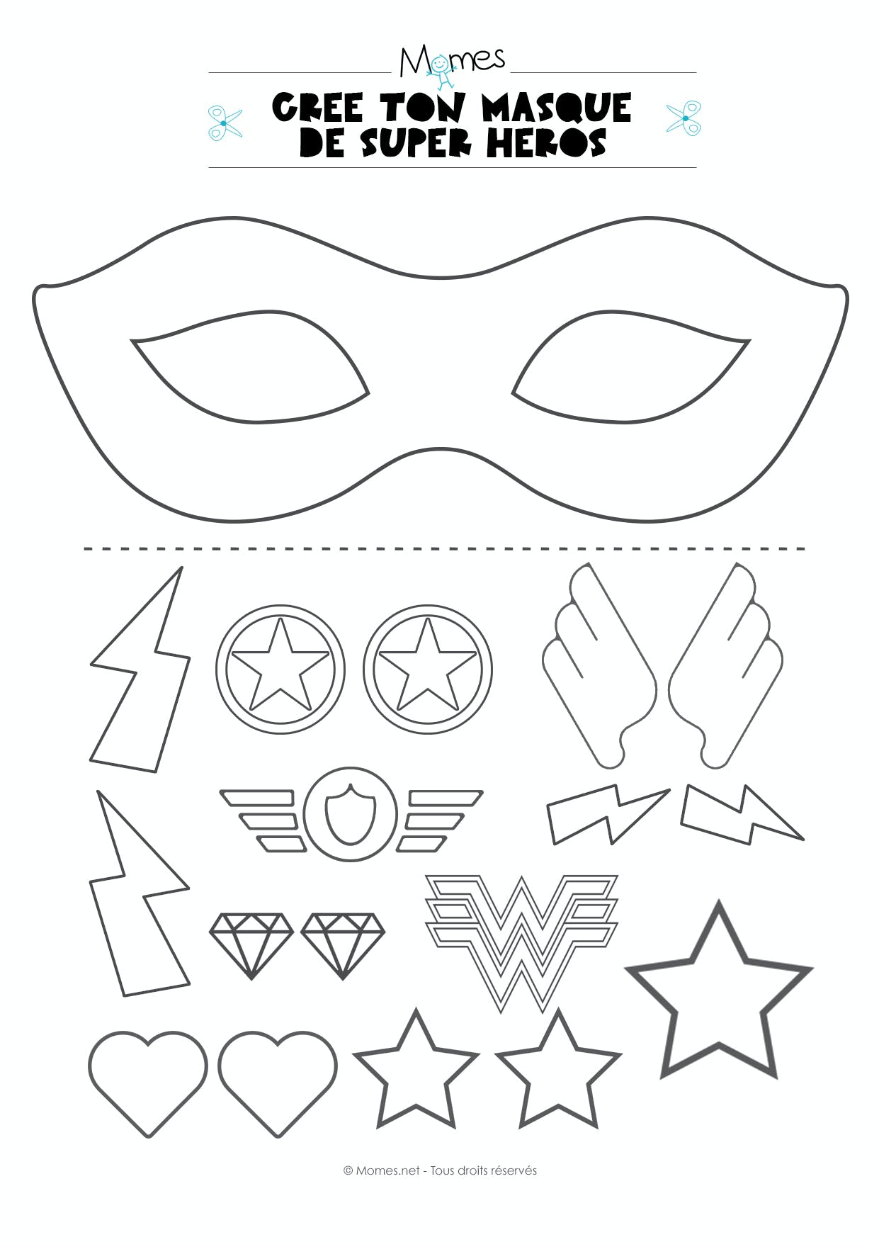 kit masque super heros