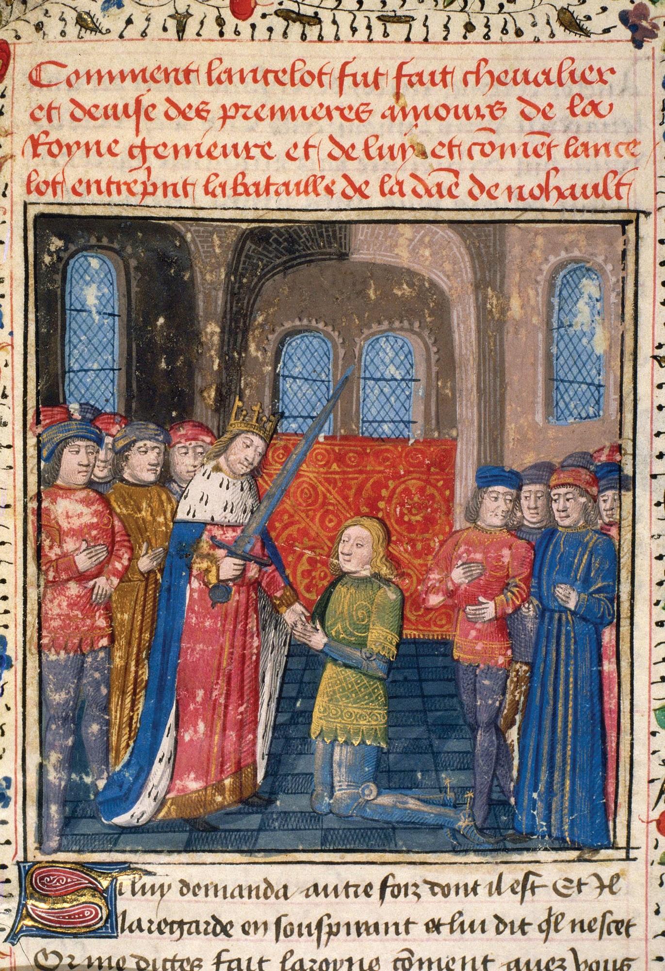 L'adoubement de Lancelot