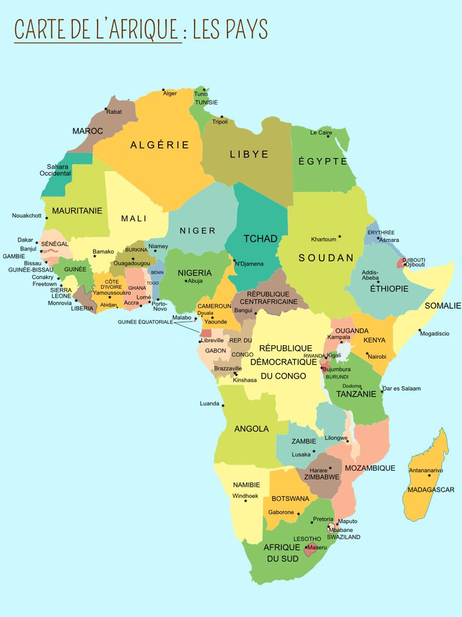 Carte Afrique Du Sud A Imprimer.L Afrique Momes Net