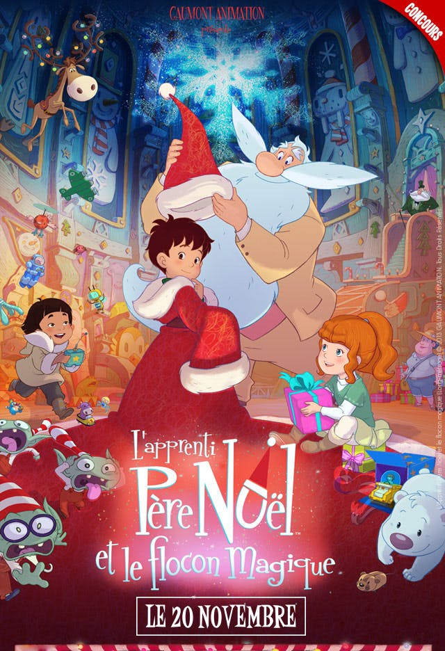 Affiche L'apprenti Père Noël et le flocon magique