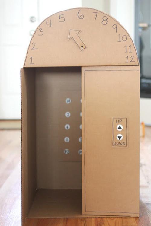 L'ascenseur en carton