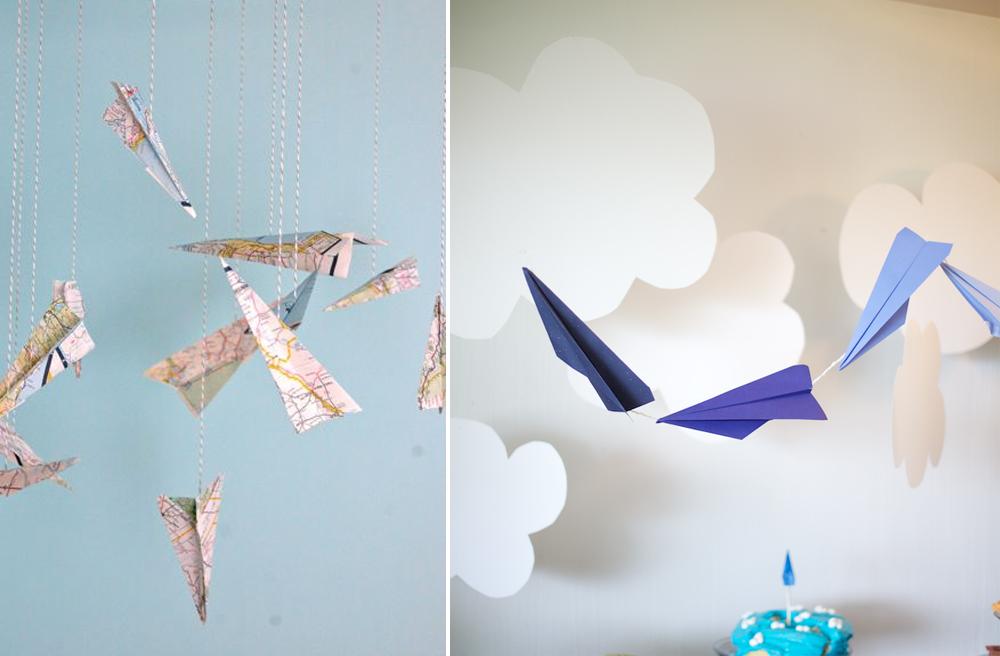 décoration avion en papier