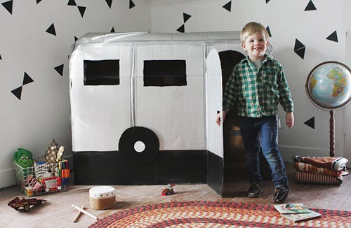 La caravane en carton
