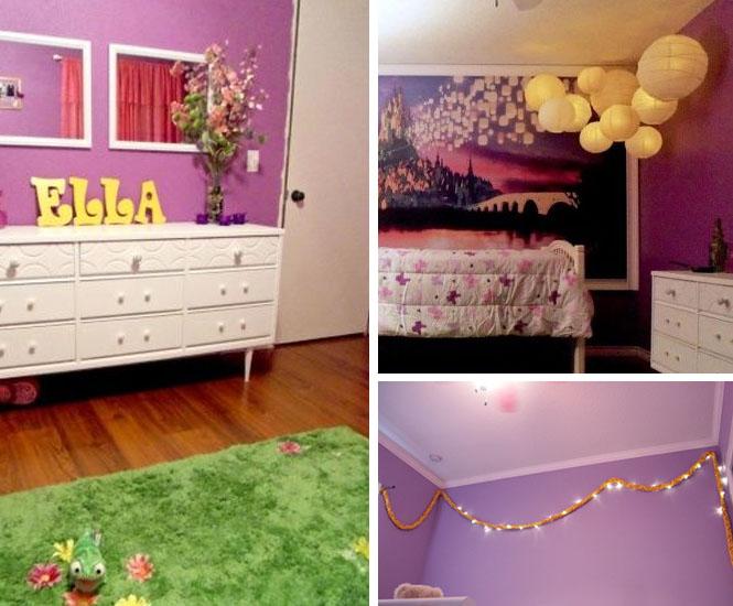 La chambre de princesse Raiponce