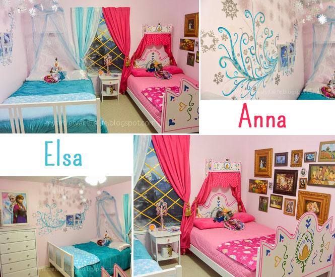 la chambre d'enfant elsa et anna de la reine des neiges - momes