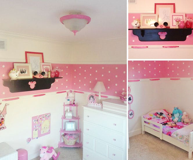 la chambre d 39 enfant minnie. Black Bedroom Furniture Sets. Home Design Ideas