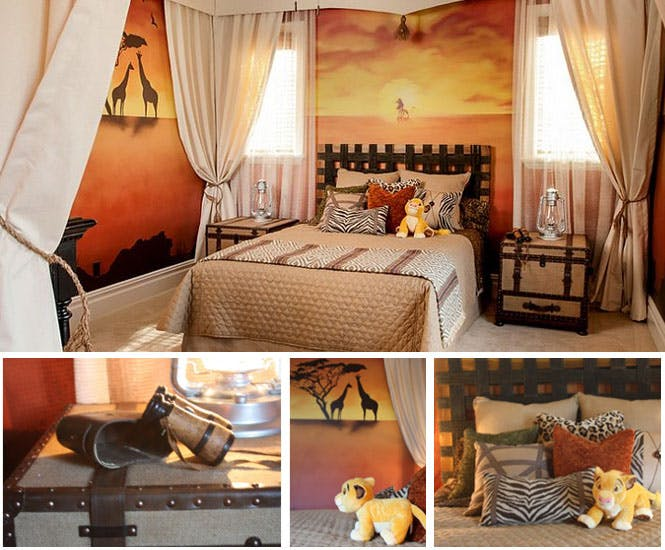 la chambre d 39 enfant roi lion. Black Bedroom Furniture Sets. Home Design Ideas
