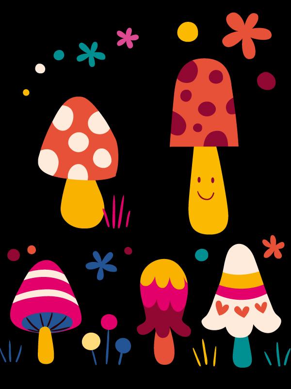 La chanson des couleurs - Dessin de champignons a imprimer ...