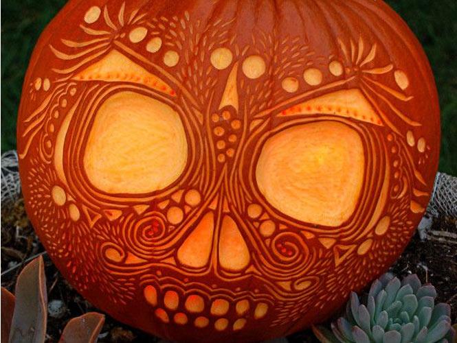 La citrouille grav e - Model citrouille d halloween ...