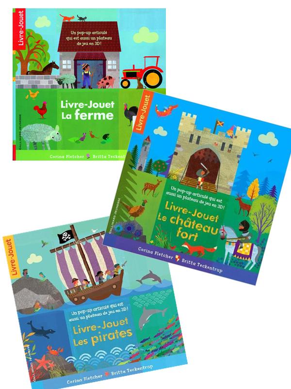 La collection de livres-jouets 3 en 1 de Gallimard Jeunesse