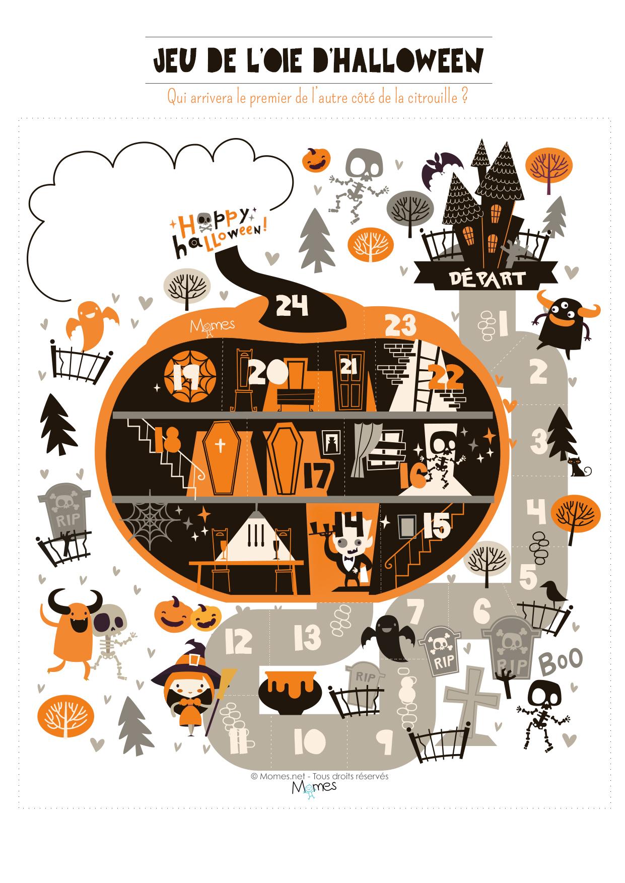 jeu de l'oie halloween