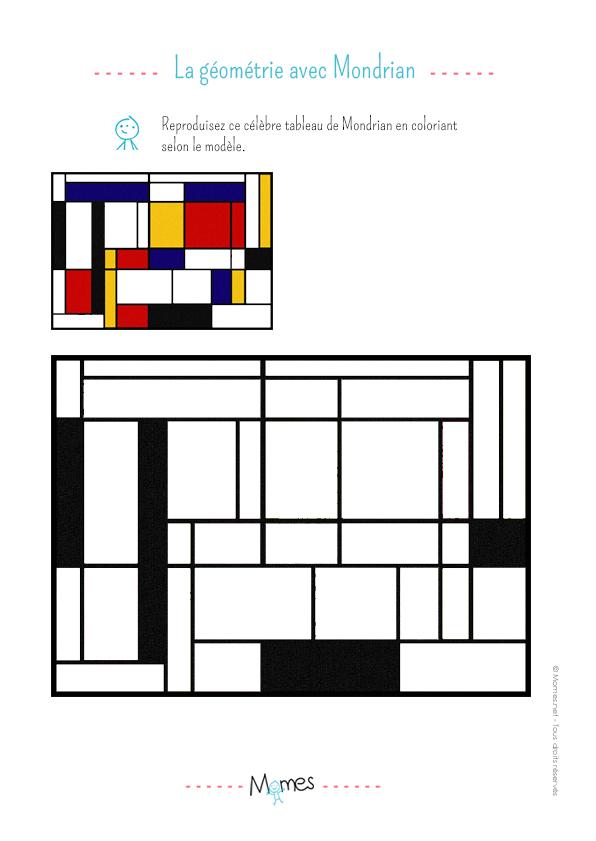 La géométrie avec Mondrian
