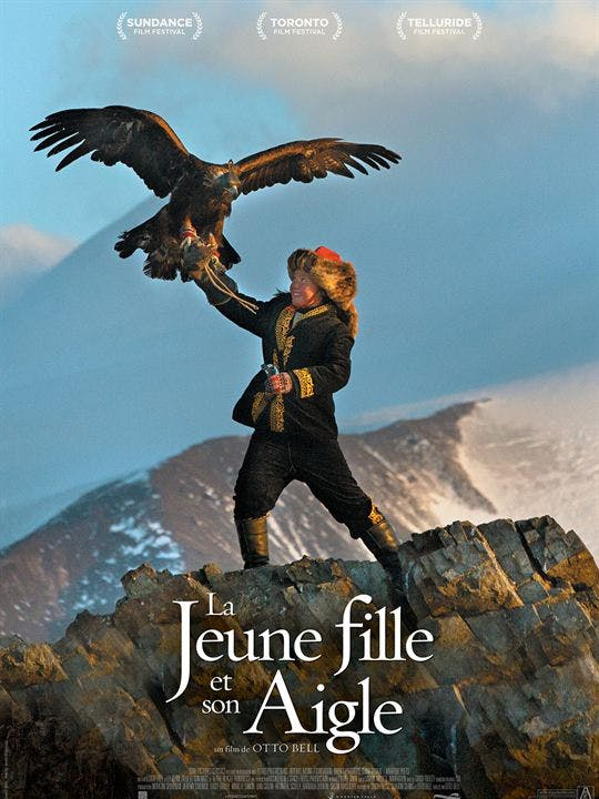 La jeune fille et son aigle - Affiche
