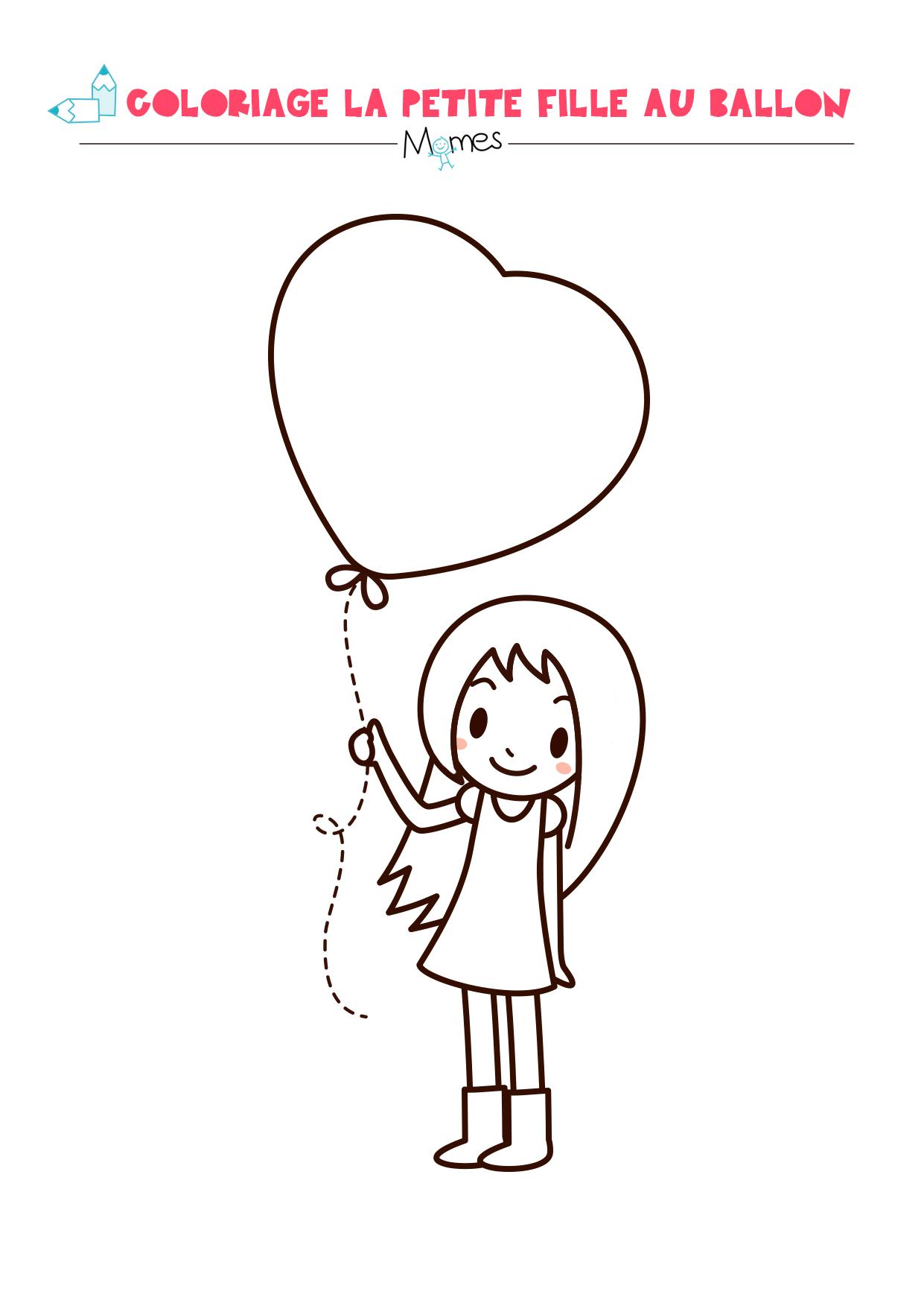 Coloriage Ballon En Coeur.La Petite Fille Au Grand Coeur Momes Net
