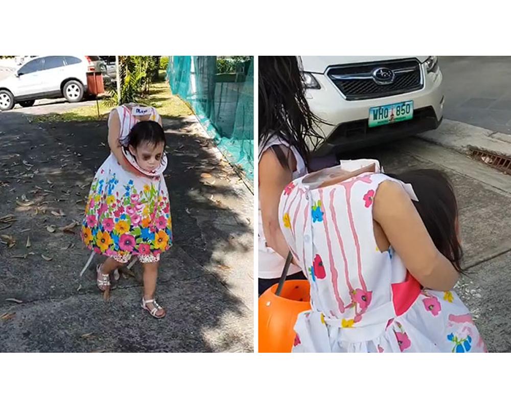 fillette sans tête déguisements costume Halloween enfants