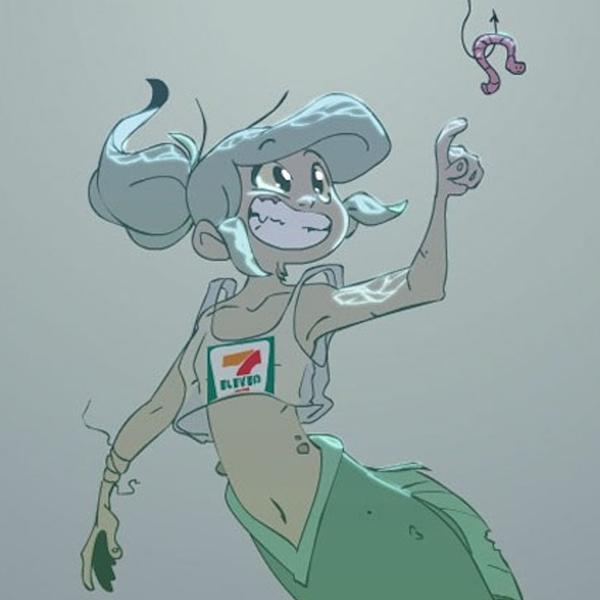 petite sirène océan pollué bande dessinée