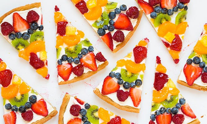 La pizza aux fruits