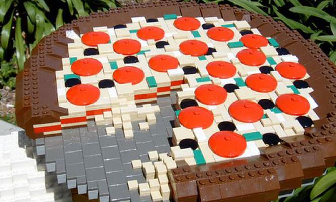 La pizza chorizo LEGO