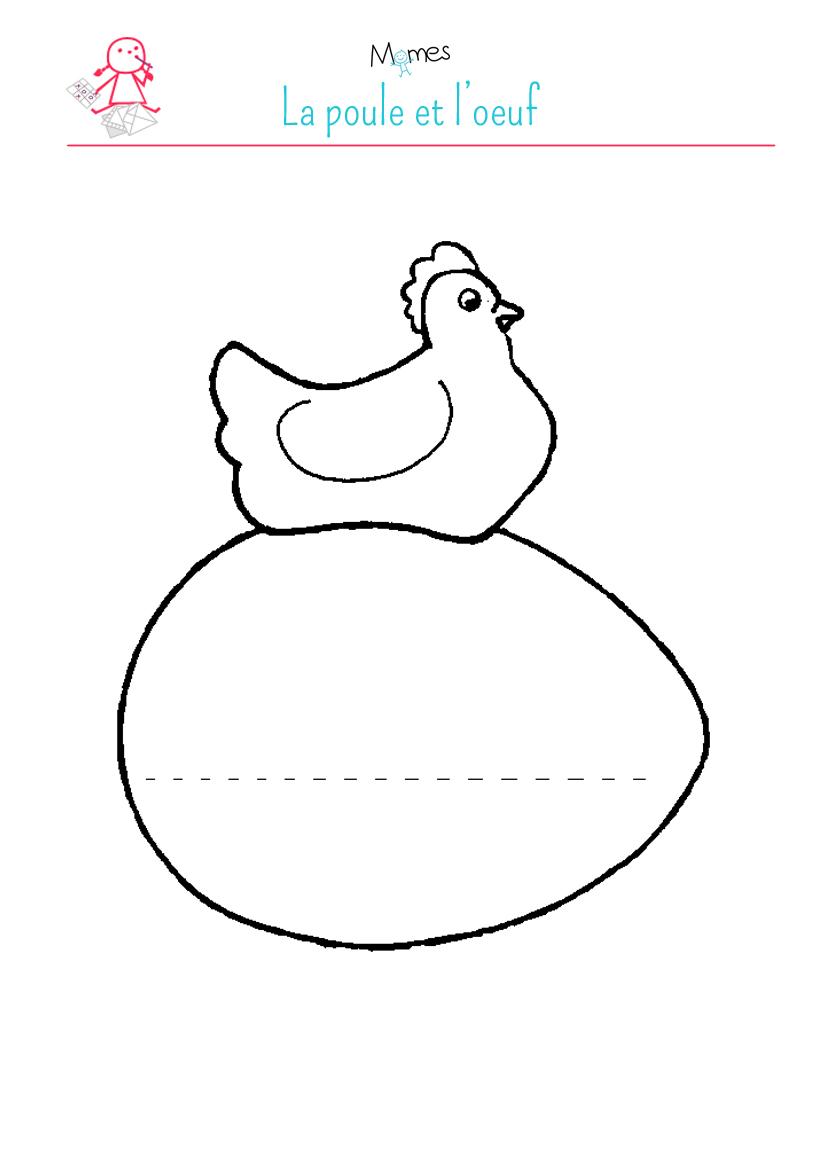 La poule et l 39 uf - Poule a imprimer ...