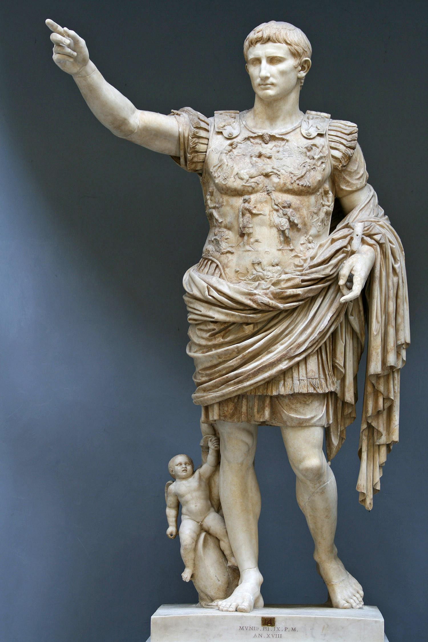 La statue d'Auguste, Augusta de Prima Porta
