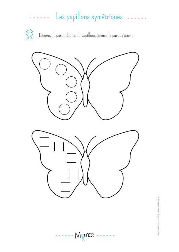 La symétrie du papillon : exercice niveau 2