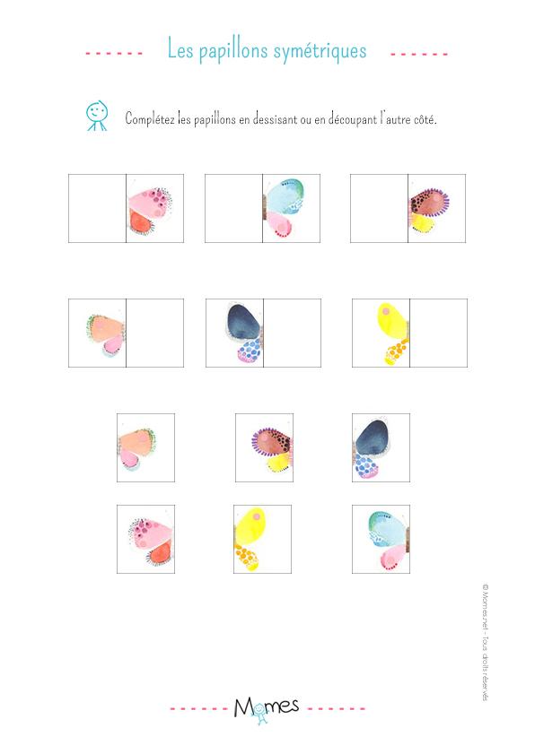 La symétrie du papillon : exercice niveau 3