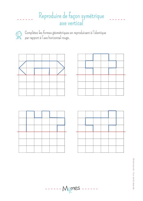 La symétrie horizontale : exercice