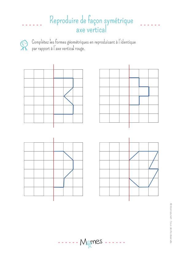 La symétrie verticale : exercice