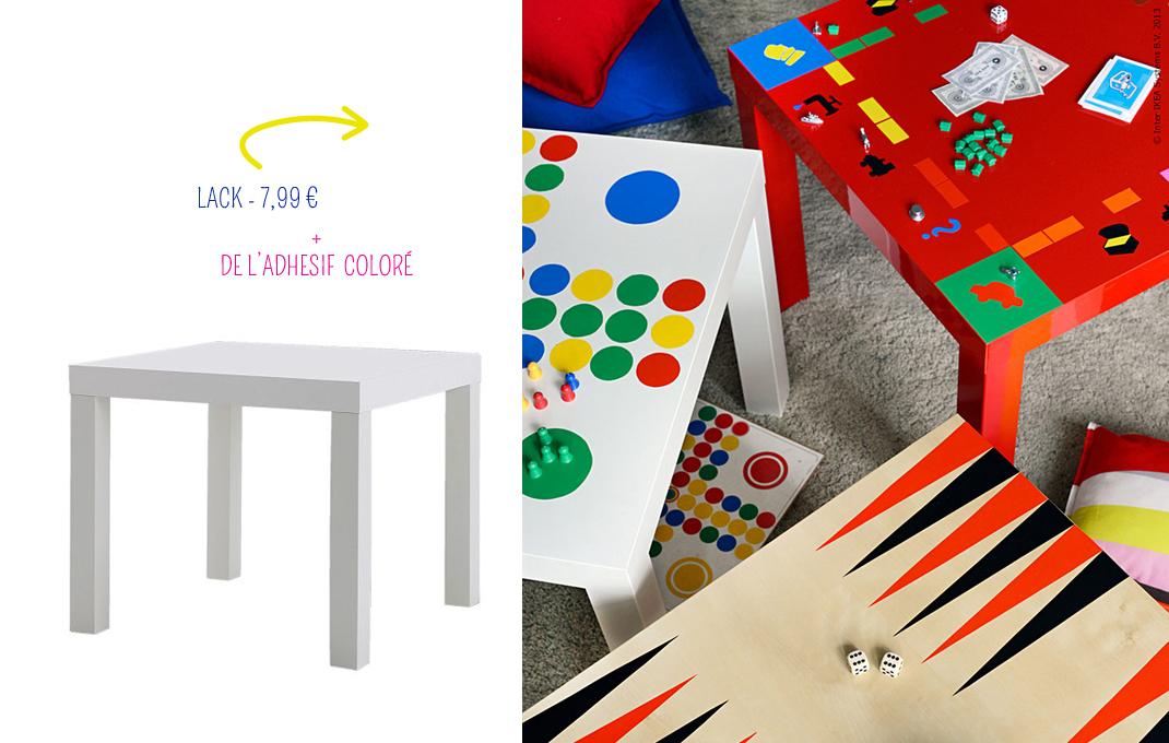 la table lack se transforme en table de jeux. Black Bedroom Furniture Sets. Home Design Ideas