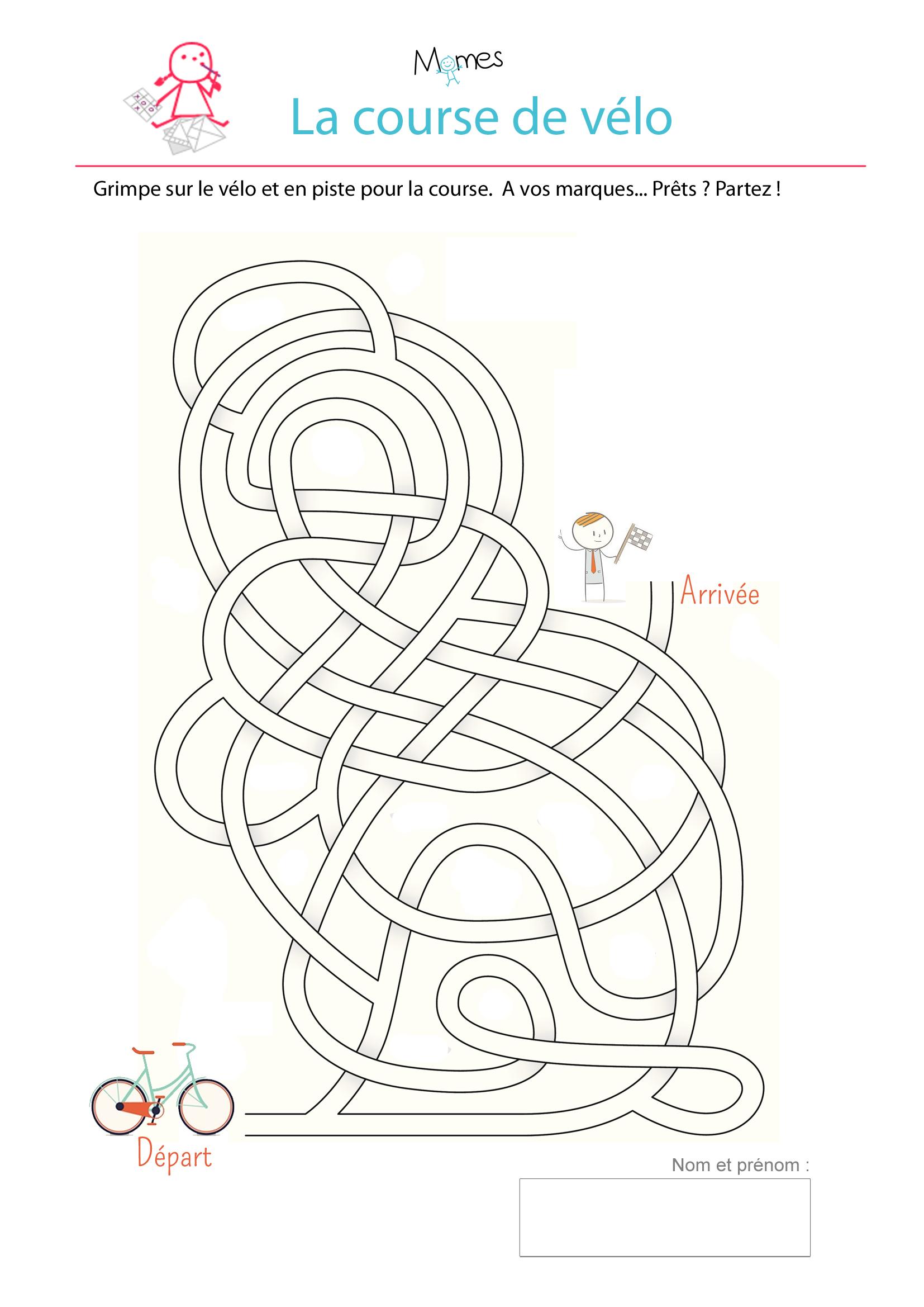 Labyrinthe de la course de vélo