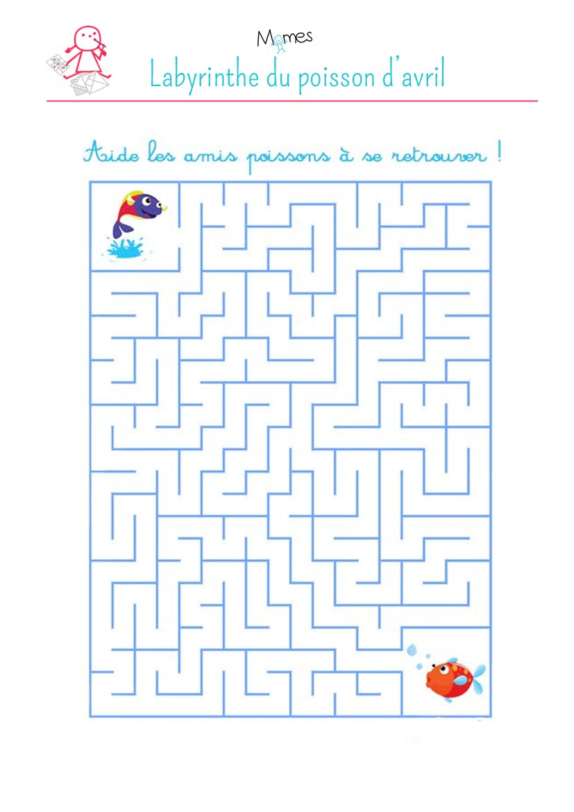 labyrinthe du poisson d'avril
