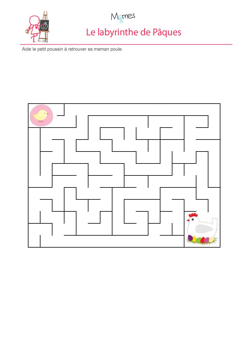 Labyrinthe du poussin de pâques