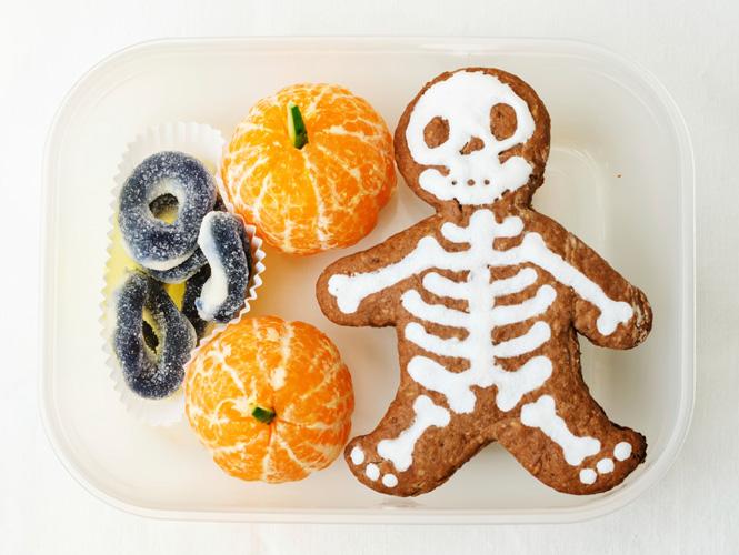 Le bento goûter d'Halloween squelette