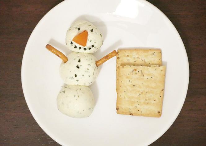 la recette du bonhomme de neige au boursin