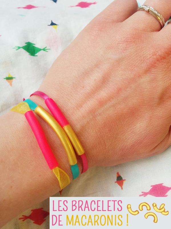Le bracelet macaroni !