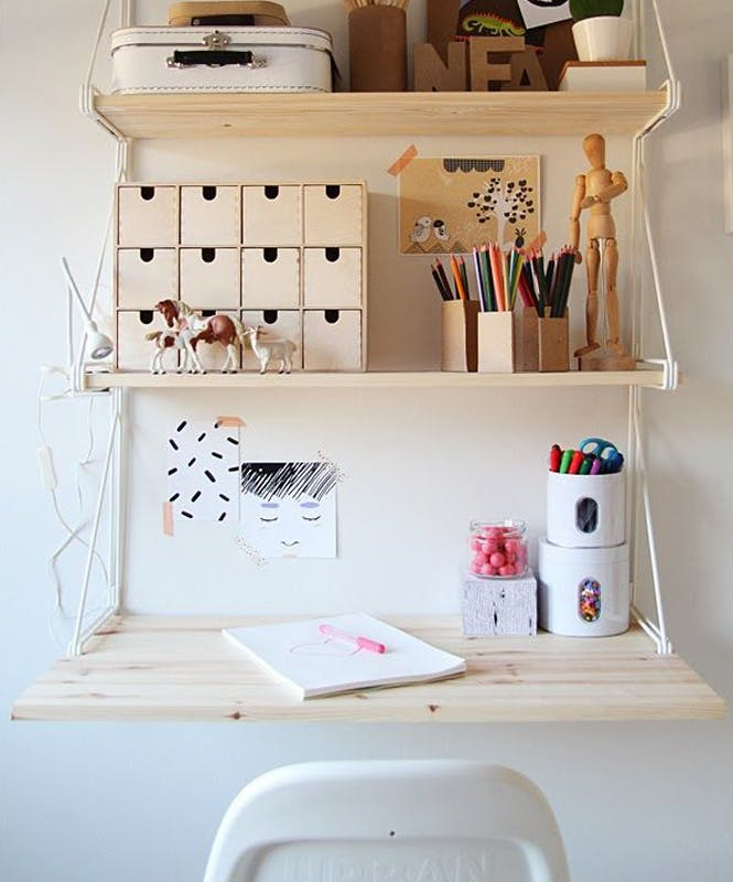 Le bureau étagère