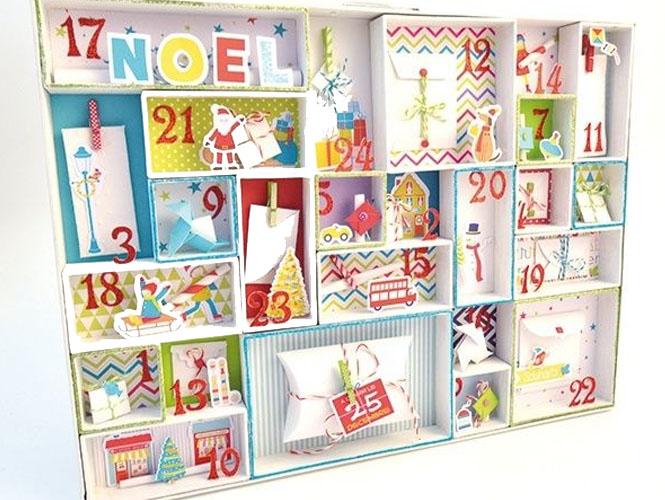 Le calendrier de l'Avent en petites boites